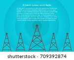 telecommunications cellular... | Shutterstock .eps vector #709392874