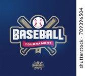 modern professional baseball... | Shutterstock .eps vector #709396504