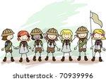 illustration of girl scouts in... | Shutterstock .eps vector #70939996