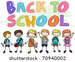 back to school doodle featuring ... | Shutterstock .eps vector #70940002