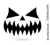 scary halloween pumpkin face... | Shutterstock .eps vector #709401499