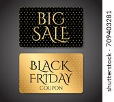 gift coupon  gift card ... | Shutterstock .eps vector #709403281