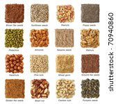 Oil Seeds And Nuts With Titels...