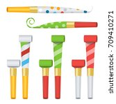 party horn set vector color