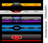 editable website vector buttons | Shutterstock .eps vector #70941097