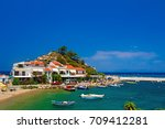 samos island. greece. samos... | Shutterstock . vector #709412281