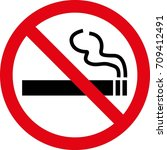 no smoking sign | Shutterstock .eps vector #709412491