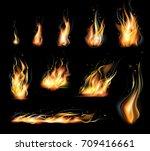 vector isolated set of... | Shutterstock .eps vector #709416661