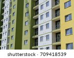colorful facade of a modern... | Shutterstock . vector #709418539