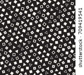 seamless primitive jumble... | Shutterstock .eps vector #709419541