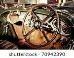 grunge effect classic car... | Shutterstock . vector #70942390