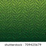 vector green leaf pattern. | Shutterstock .eps vector #709425679