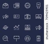 set of 16 advertising outline... | Shutterstock .eps vector #709425901