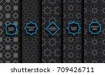 black seamless islamic pattern... | Shutterstock .eps vector #709426711