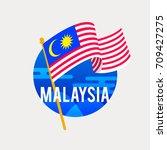 the flag of malaysia...