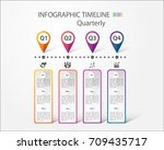 infographic timeline for... | Shutterstock .eps vector #709435717