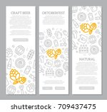 set of three digital beer  pub... | Shutterstock .eps vector #709437475