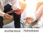 healthcare concept of... | Shutterstock . vector #709439644