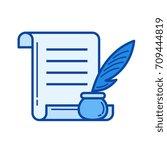 honor certificate vector line... | Shutterstock .eps vector #709444819