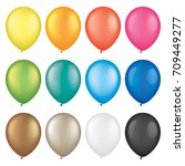 colorful vector balloons ... | Shutterstock .eps vector #709449277