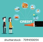 financial adviser offering a...   Shutterstock .eps vector #709450054