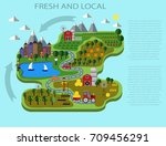 natural food. infographic | Shutterstock .eps vector #709456291