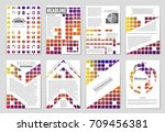 abstract vector layout... | Shutterstock .eps vector #709456381
