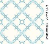 portuguese tiles  quatrefoil... | Shutterstock .eps vector #709457275