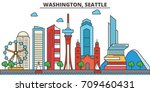 washington  seattle.city...   Shutterstock .eps vector #709460431