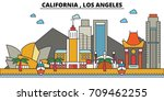 california  los angeles.city... | Shutterstock .eps vector #709462255