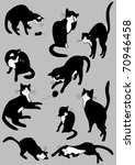 Stock vector the complete set of cats 70946458