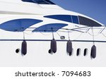 white luxury private yacht  ...