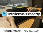 intellectual property rights.... | Shutterstock . vector #709468369