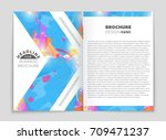 abstract vector layout... | Shutterstock .eps vector #709471237