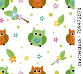 seamless tiling cute and... | Shutterstock . vector #709472071