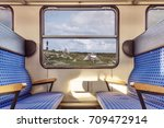 Empty Train Compartment With...