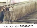 Old Weaving Loom   Closeup  ...