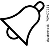 bell vector icon | Shutterstock .eps vector #709477351