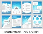 abstract vector layout... | Shutterstock .eps vector #709479604