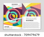 abstract vector layout... | Shutterstock .eps vector #709479679