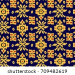 seamless tribal pattern. | Shutterstock . vector #709482619