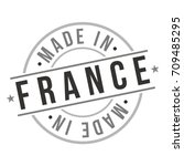 made in france stamp logo icon... | Shutterstock .eps vector #709485295