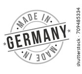 made in germany stamp logo icon ... | Shutterstock .eps vector #709485334