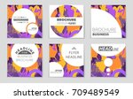 abstract vector layout... | Shutterstock .eps vector #709489549