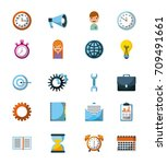 business icon concept... | Shutterstock .eps vector #709491661