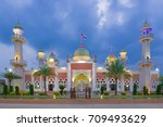 beautiful central mosque in... | Shutterstock . vector #709493629