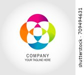 social relationship logo..... | Shutterstock .eps vector #709494631