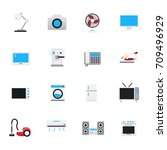 household appliances icons. set ... | Shutterstock .eps vector #709496929