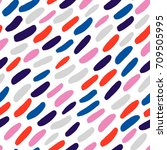 cute seamless pattern with... | Shutterstock .eps vector #709505995