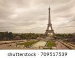 paris  france   may 08  2017  ... | Shutterstock . vector #709517539